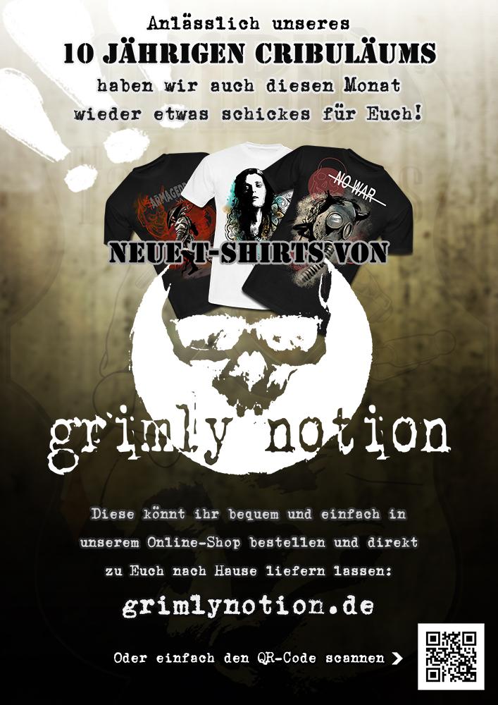 Neue Shirts von grimly notion